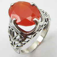 Natural Carnelian Ring Size 8 Solid Silver Handmade Jewelry Unique Designed