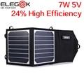 ELEGEEK 7 W 5 V Panel Solar Plegable Panel Solar de Alta Eficiencia de Sunpower Cargador Solar Portátil Al Aire Libre para el Teléfono Móvil y 5 V Dispositivo