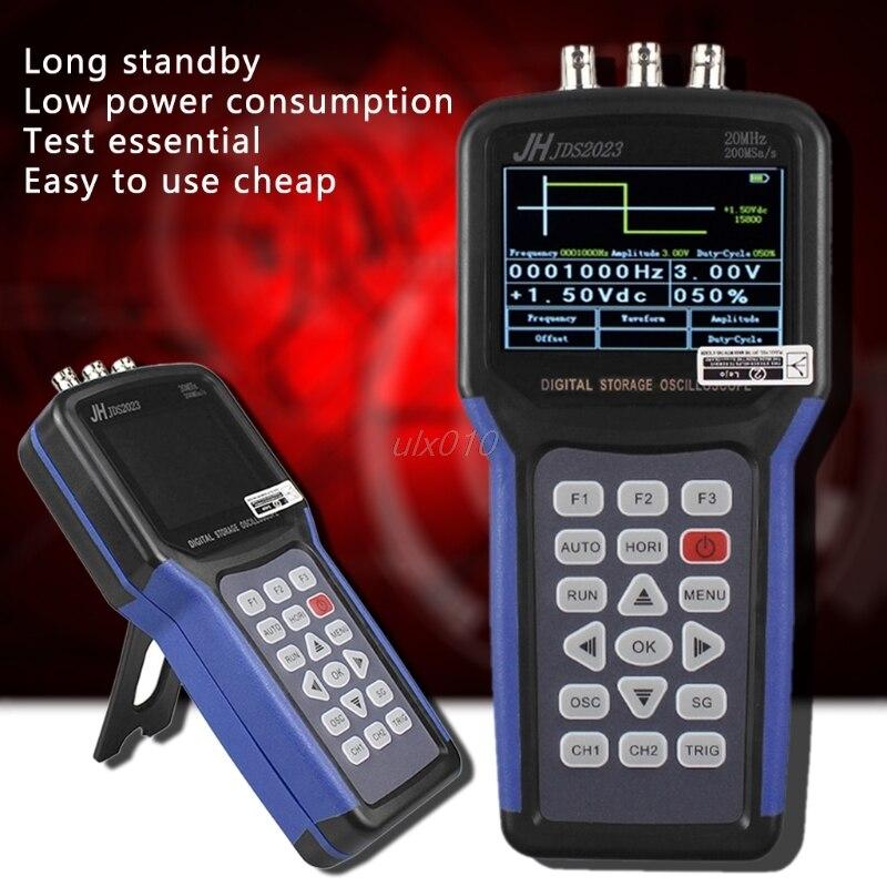 JDS2023 цифровой портативный осциллограф 1 Каналы 20 мГц осциллограф G09 Прямая поставка