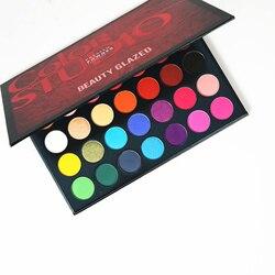Профессиональная Палетка теней BEAUTY GLAZED для макияжа глаз, матовые тени для век, Сияющие, водонепроницаемая, 35 цветов