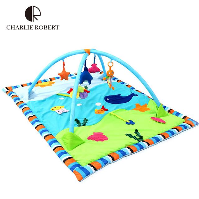 Grande esteira do jogo do bebê 0 - 3 anos jogo brinquedo do bebê Tapete Infantil engatinhando Tapete Ocean World peixe jogo esportes ginásio Tapete crianças Rug HK879