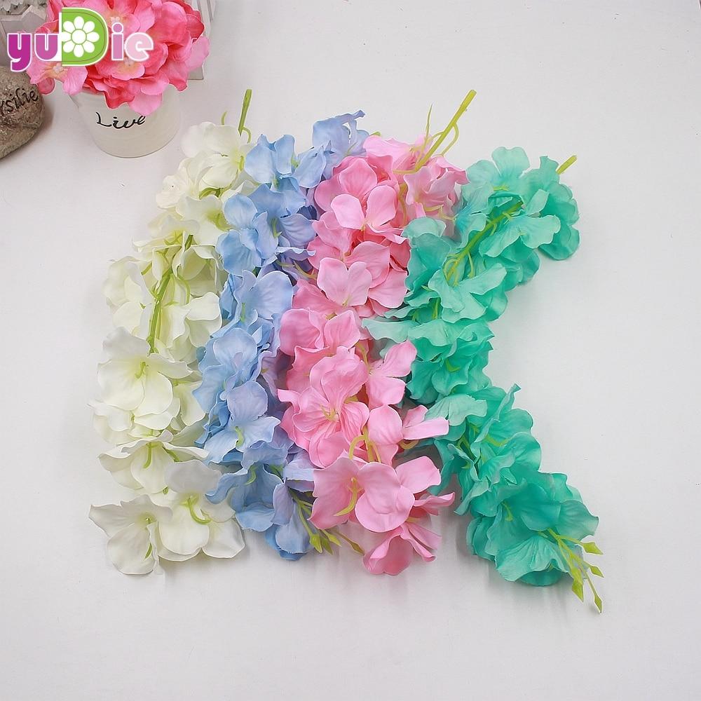 Aliexpress Buy 10pcs Romantic Artificial Silk Wisteria Hanging