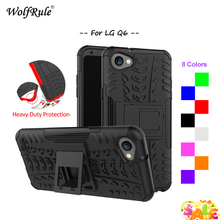 WolfRule Case For LG Q6 Case TPU & Plastic Kickstand Anti-Knock Cover For LG Q6 Plus Q6a alpha Case For LG Q6 Cover Fundas 5.5'' q6 isdt plus 300 w 14a 8a kieszonkowy q6 lite 200 w baterii bilans ladowarka dla rc drone helikopter quad