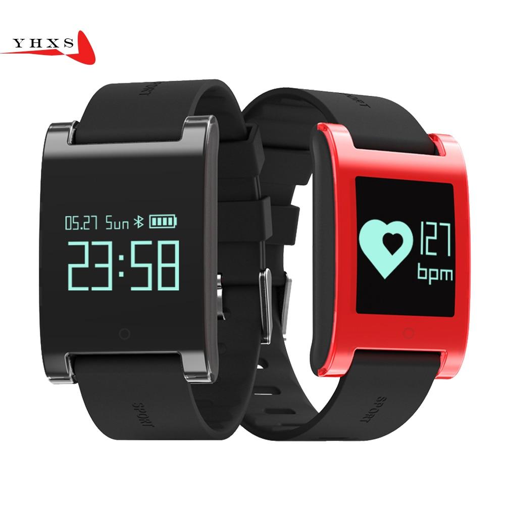 YHXS Heart Rate Smart watch With Blood Pressure Monitor IP67 Waterproof Pedometer Fitness Bracelet Smartwatch