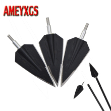 6pcs Archery 2 Blade Broadheads 150 Grain Practice Blades Arrowhead Compound Bow Hunting Accessory