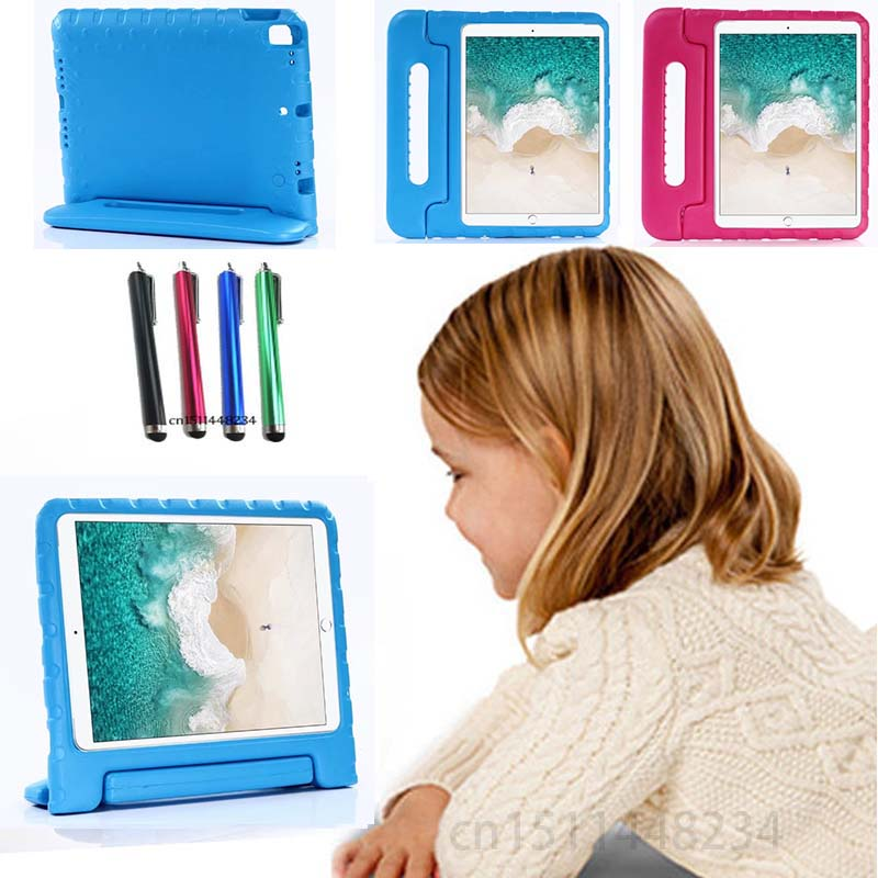 for IPAD Pro 10.5 A1701 A1709 2017 child baby Tablet shockproof shell cover, handle Support stand EVA silicone case + Stylus pen silicone charging stand anti lost cap cover for ipad pro pencil touch stylus pen l059 new hot