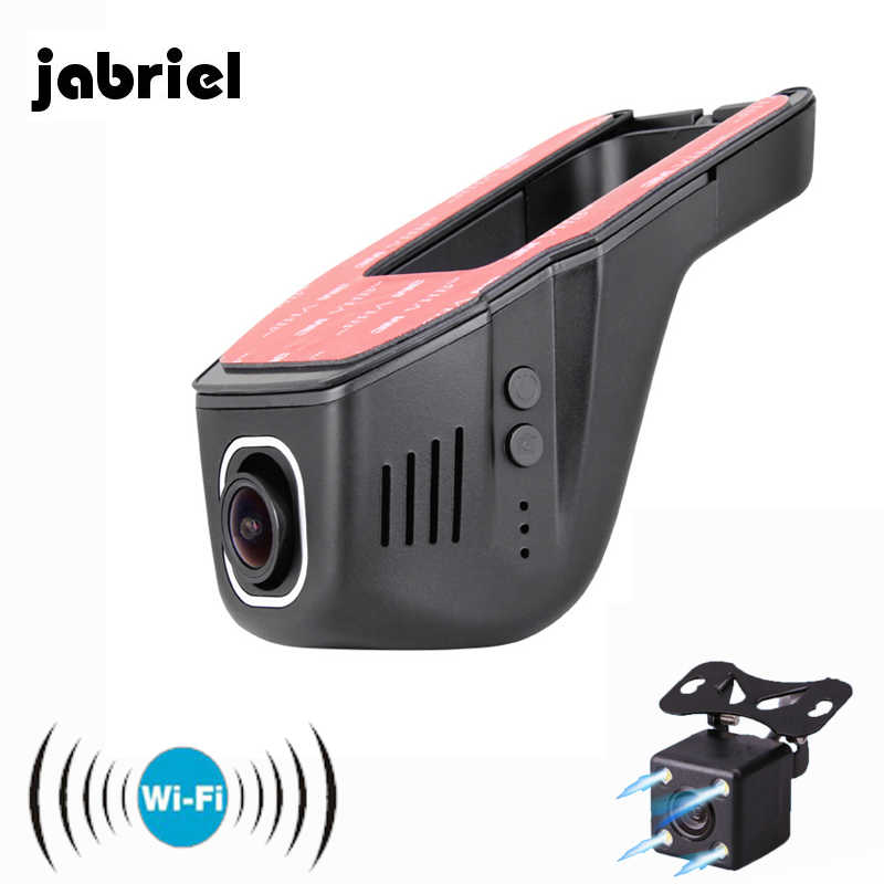 "Jabriel Hidden Wifi Mini Car Camara 170"" Wide Angle Wifi Video Recorder Mini Camera Auto Dual Dash Cam 2 DVRs HD 1080P Car Dvr"