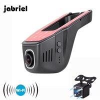 Jabriel Hidden Wifi Mini Car Camara 170 Wide Angle Wifi Video Recorder Mini Camera Auto Dual Dash Cam 2 DVRs HD 1080P Car Dvr