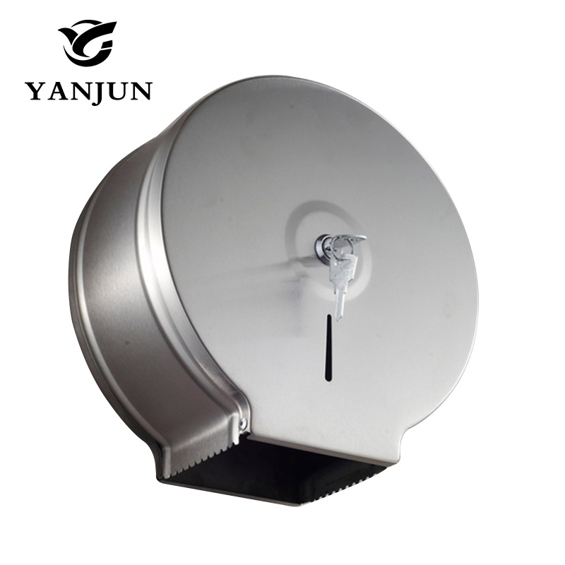 Yanjun High Quality Wall Mounted  Toilet  Paper Jumbo Roll Holder  Paper Tissue Holder for Professional Bathroom YJ-8625 stainless steel wall mounted waterproof toilet roll paper holder of high capacity for toilet hotel and bathroom