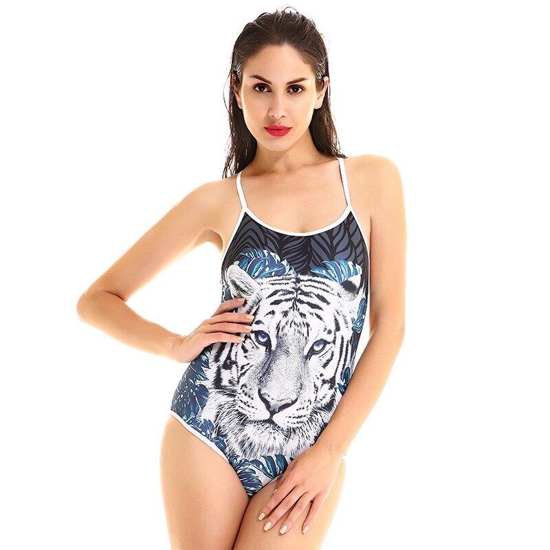 Badpak Tijgerprint.Tijgerprint Push Up Een Stuk Badpak Gewatteerde Bikini Vrouwen
