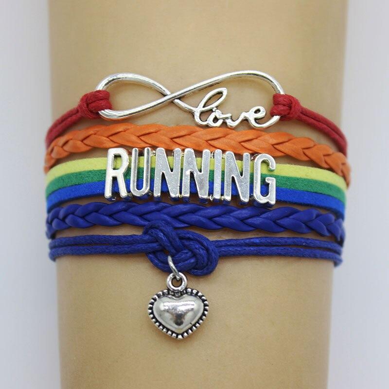 New Best Friends Sport Gifts Running Letter Bracelets For