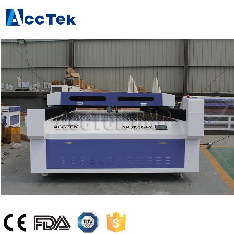Dual head AKJ1530H 260W <font><b>300W</b></font> <font><b>Co2</b></font> <font><b>laser</b></font> metal/acrylic cnc <font><b>laser</b></font> cutting/engraving machine price image