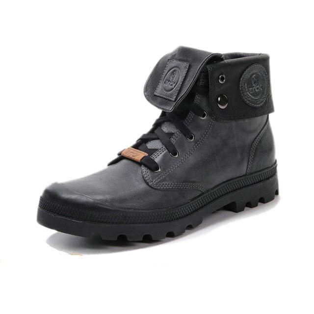 ARCX Retro style font b Men b font Leather Motorcycle Boots Lapel font b Men b