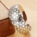 Plum padrão de flor pulseiras 2015 nova retro pulseira mão forlady antigo de prata banhado a jóia por atacado boa qualidade hot d08