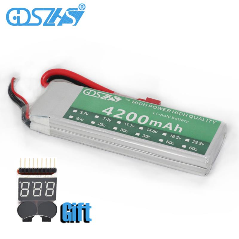 GDSZHS Power 7.4V 4200mAh Lipo Battery 30C 2S Battery 2S LiPo 7.4 V 4200mAh 30C 2S 1P Lithium-Polymer Batterie For RC Car gdszhs b3 20w 2s 3s lipo battery compact for rc model 11 1v 7 4v 1 6a lipo battery 2s 3s charger