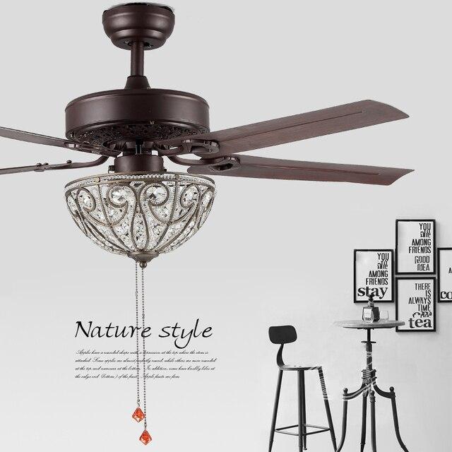 Nordique vintage loft ventilateur lightl creative ventilateur plafonnier salon lampe chambre industrielle ventilateur de plafond lampe