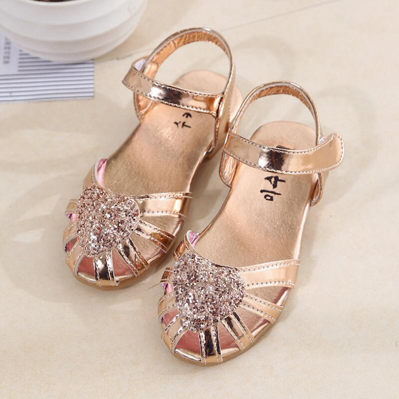 SKHEK Girls Sandals Summer Toddler Gladiator Sandals Flat Shoes Fashion Children Shoes Girls Princess  Kids Soft PU Leather Shoe|Sandals| |  - title=