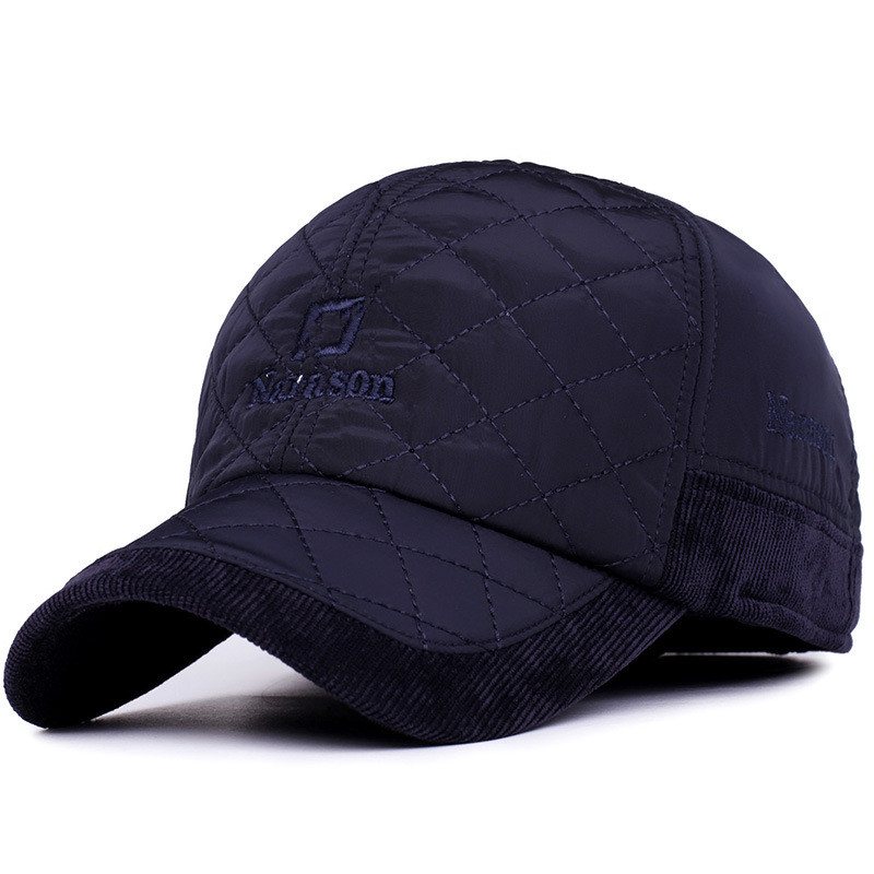 2016-Warm-Winter-Baseball-Cap-Men-Brand-Snapback-Black-Solid-Bone-Baseball-Mens-Winter-Hats-Ear (5)