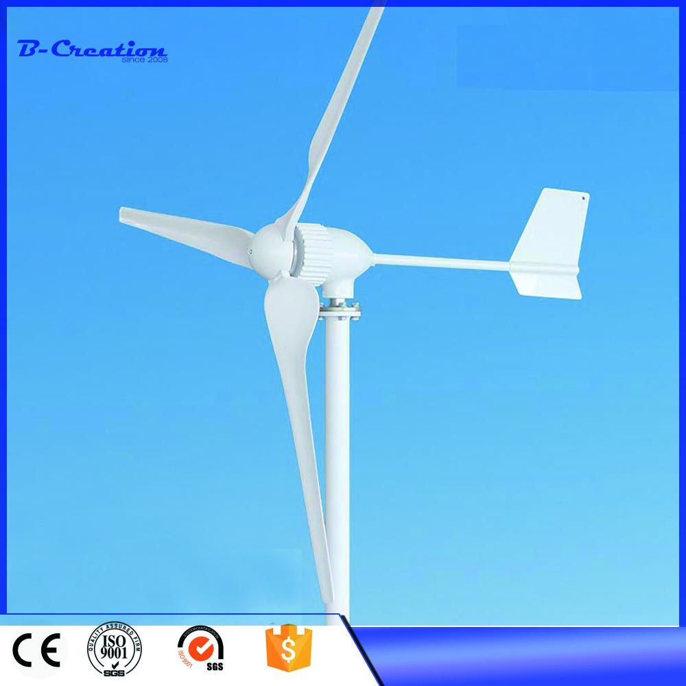 1000W low wind start up horizontal residential wind turbine generator 3 Blades 24V/48V Wind Turbine Generator Max 1100w 2 5m s start up wind speed three phase 3 blades 1000w 48v wind turbine generator with 1000w 48v waterproor wind controller