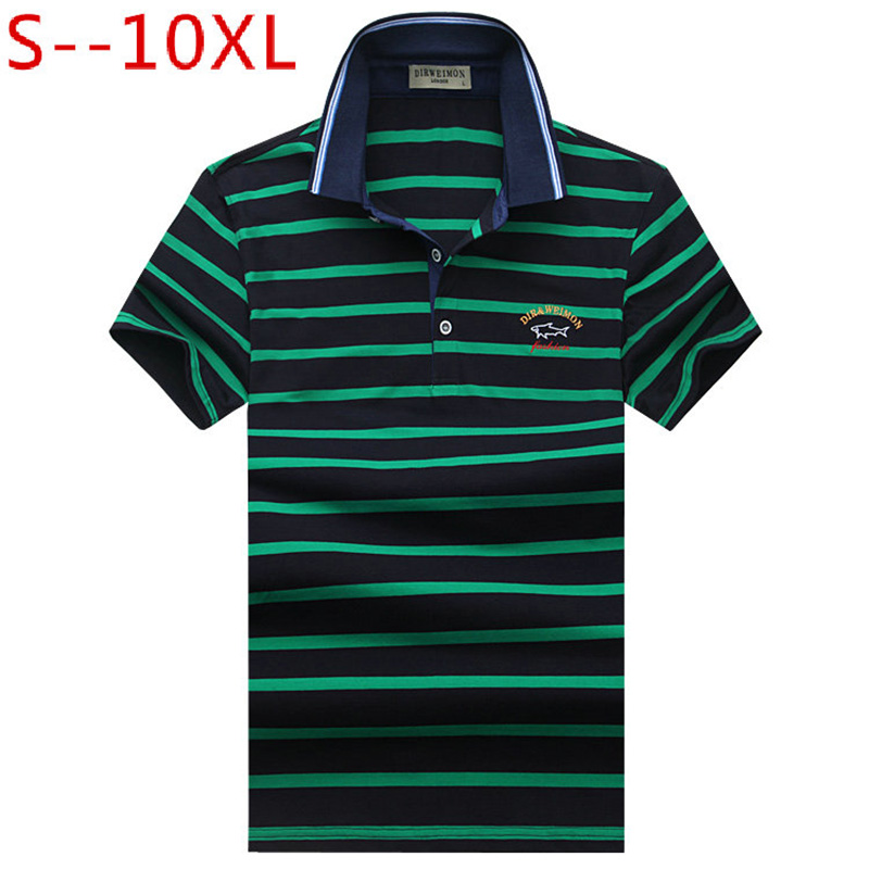 Hot Sale 2019 New Arrival Men Polo Shirt Fashion Good Quality Classic Striped Homme Camisa Men's Polo Shirt T Plus Size S-10XL