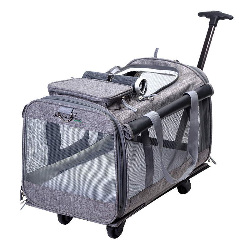 10kg Breathable Pet Nest Carrier Backpack Dog Cat Portable Trolley Four Wheel Pet Bag Outdoor Travelling Puppy Luggage CW073