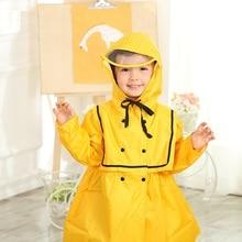 Cute Princess Polyester Children Raincoat Impermeable Kids Rain Coat Girls Cloak Poncho Waterproof Hooded Cape