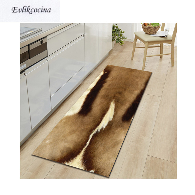 Free Shipping Cow Artificial Fur Badkamer Bath Mat Door Floor Tapete Banheiro Carpet For Toliet Non Slip Alfombra Bano