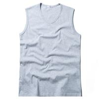 Men Tank Top V Neck Solid Color Cotton Plus Size S 7XL Sleeveless T Shirt Underwear