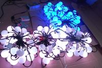 50pcs full color ball type led pixel module,DC12V input,3pcs 5050 RGB+WS2811 IC;with RF controller and power supply