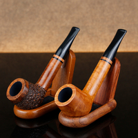 Classic Briar Wood Pipe Many Choice 9mm Filter Straight Tobacco Pipe Smoking Pipe Free Tools Gift Set Random Engraved Briar Pipe