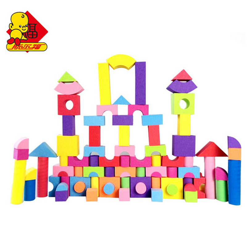 SURF 100 PCS Big Size EVA Safe Foam Blocks for Children Baby Soft Building Bricks Toys Early Educational Learning Toy Gift 48pcs good quality soft eva building blocks toy for baby