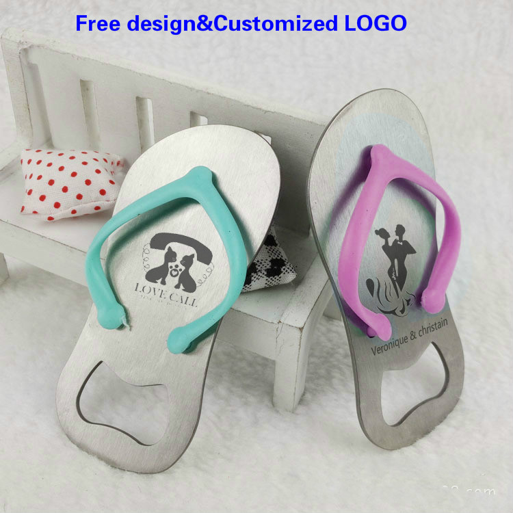 08beddc730a38 Detail Feedback Questions about Wedding Favor Souvenir Sandal Flip flop  Slipper Bottle Opener in Box Personalized Wedding Gift Giveaway Free ...