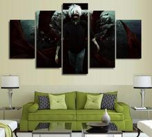 5 Panels Wall Art 5 Panels Wall Art Anime Tokyo Ghoul Ken Kaneki SAO 5 Pieces Paintings Canvas Poster Unframed 9004