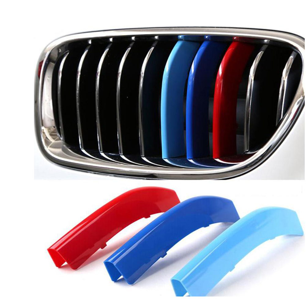 Grille <font><b>Grill</b></font> Trim Stripe for BMW X1 F48 X3F25 X4 F26 X5 E70 F15 X6 E71 3 5 Series <font><b>F30</b></font> F31 F10 F07 GT Upgrade <font><b>Grill</b></font> M Sport Color image