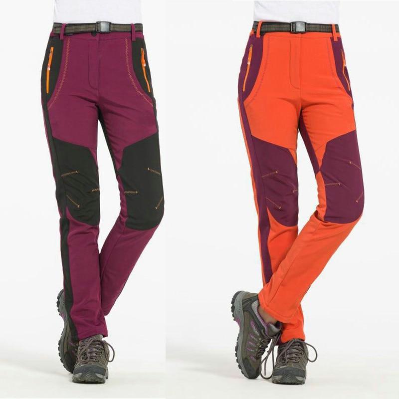 Dámské turistické kempování Trekking Nohavice Fleece Soft shell - Sportovní oblečení a doplňky