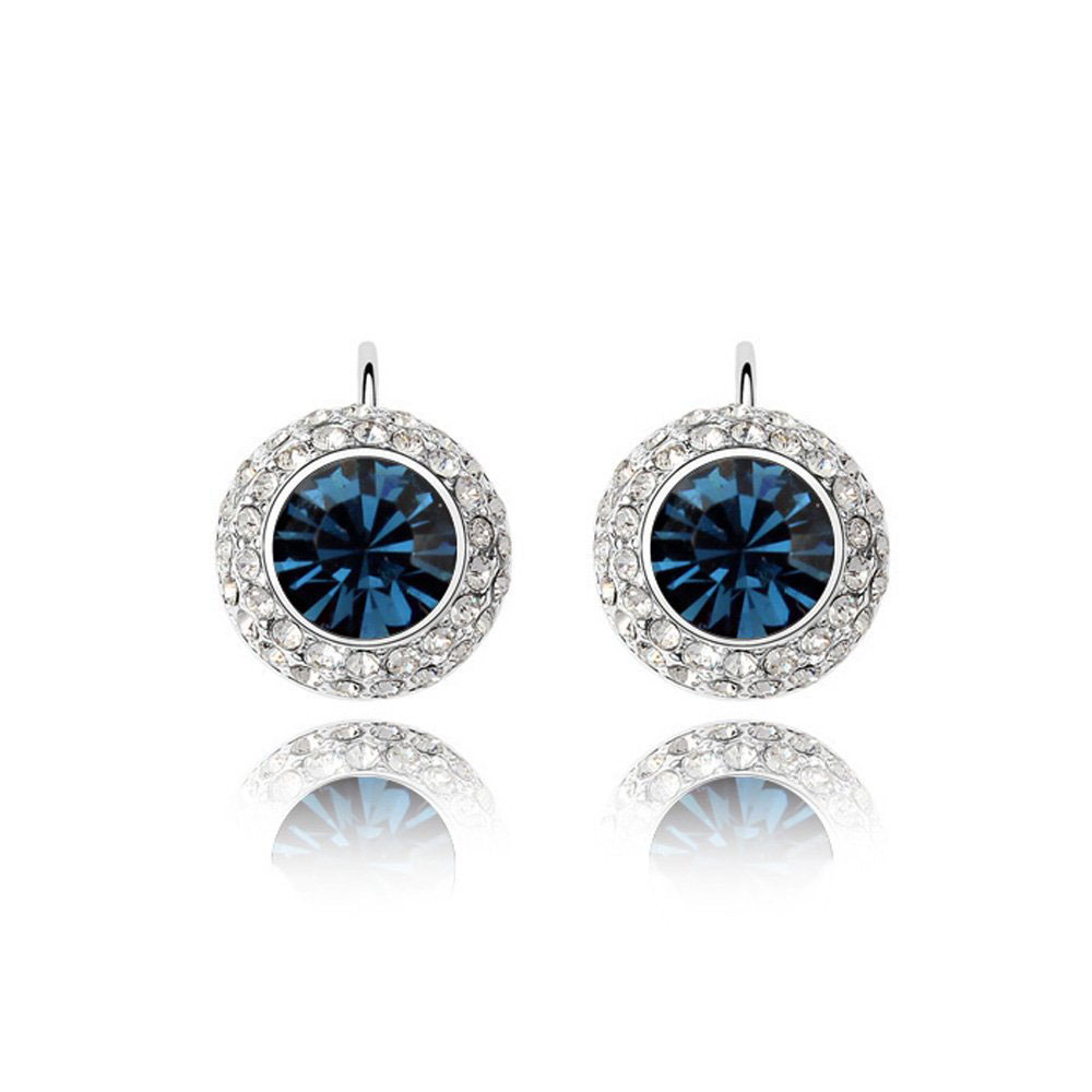 Detail Feedback Questions about Ms Betti Clasic round stone earring with  French Lever back Crystal from swarovski for women Wedding gifts for Party  favor on ... 459bc293021b