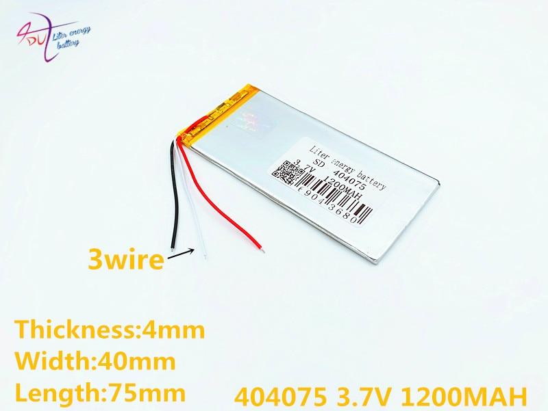 3 Linie 404075 3,7 V 1200 Mah Lithium-polymer Li-po Wiederaufladbare Diy Batterie Für Mp3 Mp4 Mp5 Gps Psp Mobile Elektronische Teil Unterhaltungselektronik Digital Batterien
