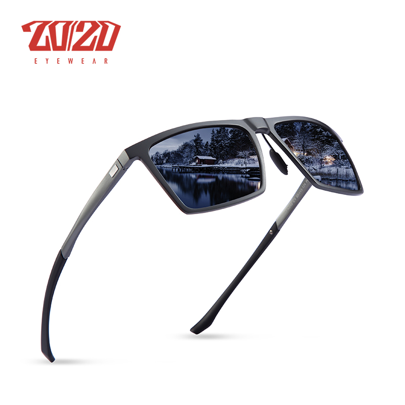 aa2a687ad00 20 20 New Unisex Classic Brand Sunglasses Men HD Polarized Aluminum Driving  Male Sun Glasses Luxury Shades UV400 Oculos PK018