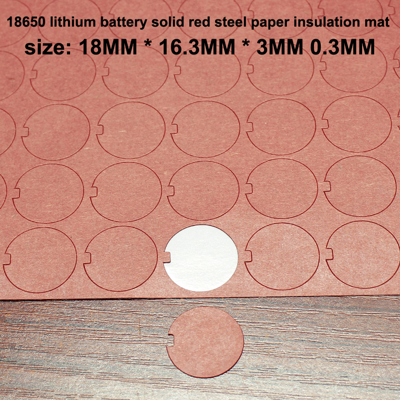 100pcs lot 18650 lithium battery bark paper insulation gasket hollow gasket power battery pack sealing surface pad in Gaskets from Home Improvement