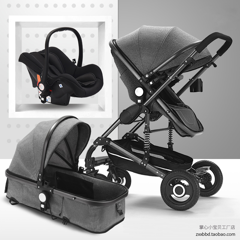 <font><b>Baby</b></font> stroller newborn can sit reclining stroller high landscape foldable <font><b>3</b></font> <font><b>in</b></font> <font><b>1</b></font> summer <font><b>baby</b></font> two-way <font><b>pram</b></font> Brand 2 <font><b>in</b></font> <font><b>1</b></font> stroller image
