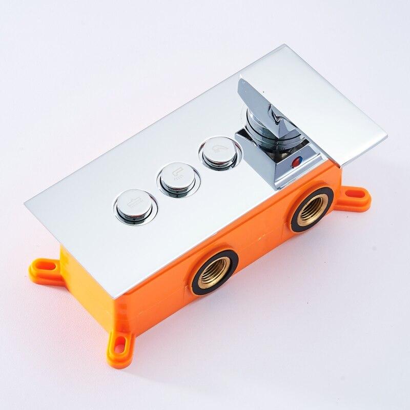 Becola caja empotrada ducha multifunción interruptor de control válvula de baño oculta ducha válvula del grifo montado en la pared B-9916