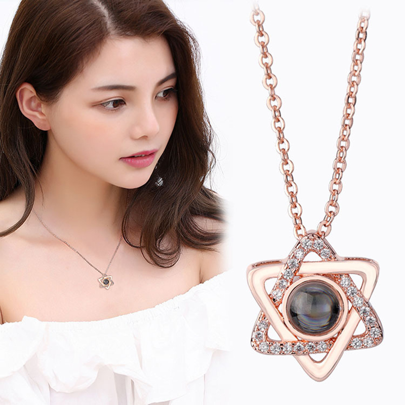 Romantic-100-Languages-I-love-you-Projection-Necklace-Rose-Gold-Silver-Zircon-Star-Pendant-Necklace-Wedding (2)