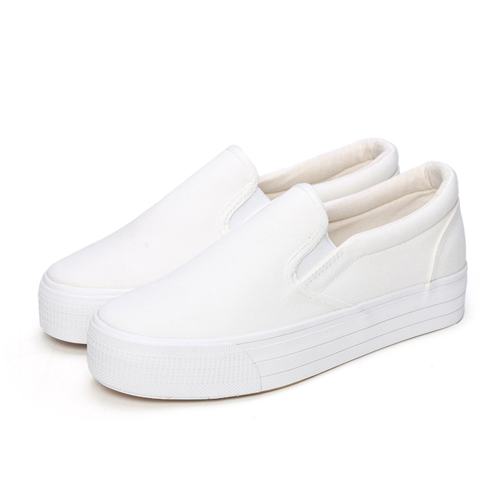 White Slip On Canvas Shoes Bulk