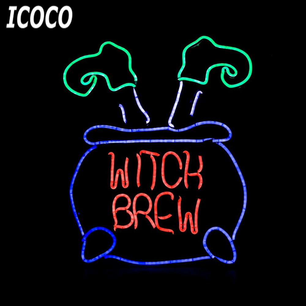 ICOCO Neon Sign Light Plate Witch Legs Shape Design Night Lamp Wall Light for Coffee Bar Mural Crafts Neon Sign Room Home Decor internet cafe open with coffee cup neon sign neon light sign glass tube arcade neon signs for bar neon handcrafted bar 17x14 vd