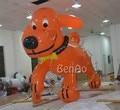 AO019 VENTA CALIENTE 4 m Inflable helio perro/lobo volador gigante publicidad/avión/aeronave/flying Cartoon/pvc globo