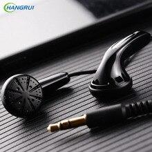 HANGRUI Dynamic Qian25 HiFi Earphones Heavy Bass in-ear earphone with mic Flat Head Plug mp3 Sport Headset stereo ear buds