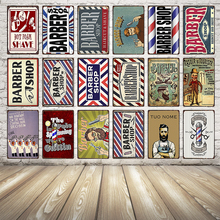 [ Kelly66 ] BARBER SHOP  Tin Sign Metal Poster Home Decor Bar Wall Art iron Painting 20*30 CM Size Dy19