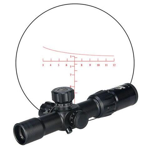 canis latrans 1 4x24 irf rifle scope mil dot iluminado vermelho ou verde para desporto