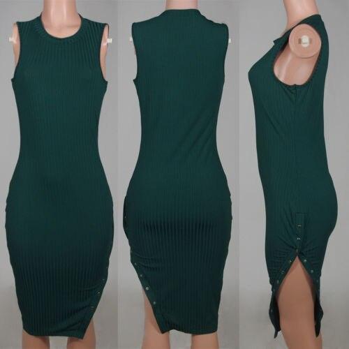 Single Slit Neck Sheath Dress
