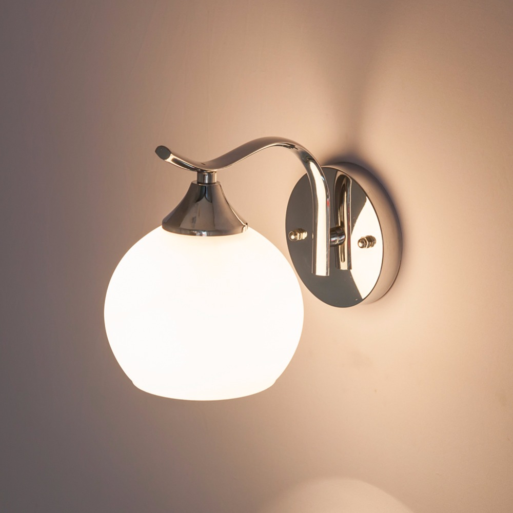 HGhomeart Mur Lampe E27 Luminaria Led Wall Light 110-220 V Mur Monté Lampes De Chevet Appliques En Verre Mur Monté Lampes de chevet
